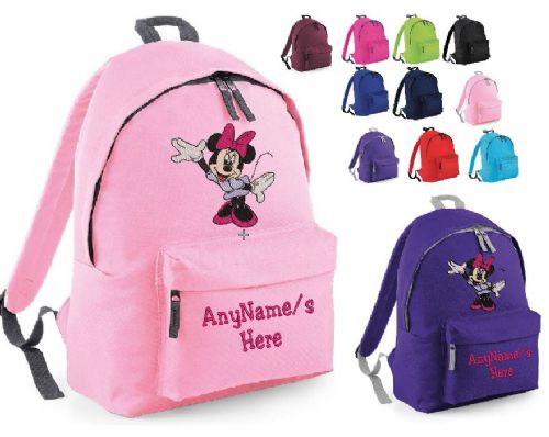 MINNIE MOUSE Rucksack/Backpack with any name